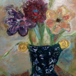 Flowers in Broken Pot 30x30